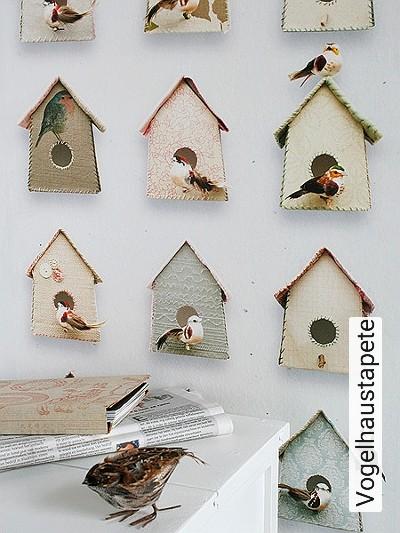 Bild: Tapeten - Vogelhaustapete