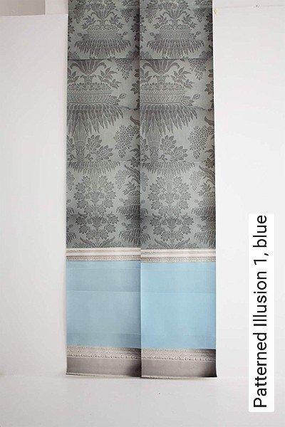 Bild: Tapeten - Patterned Illusion 1, blue