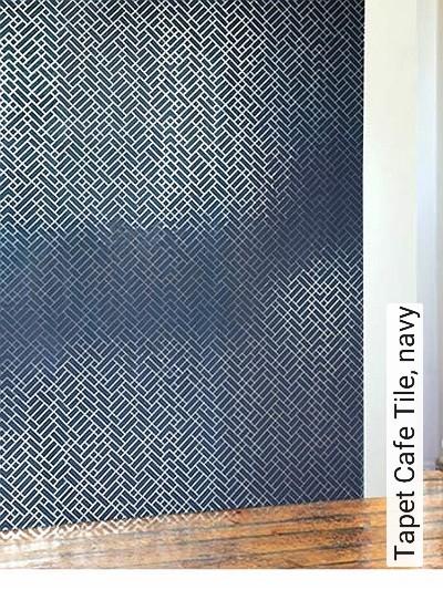 Bild: Tapeten - Tapet Cafe Tile, navy