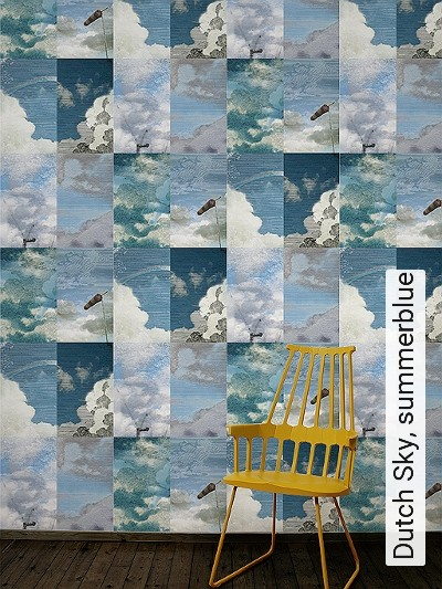 Bild: Tapeten - Dutch Sky, summerblue