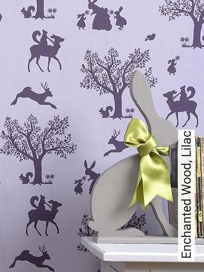 Bild: Tapeten - Enchanted Wood, Lilac