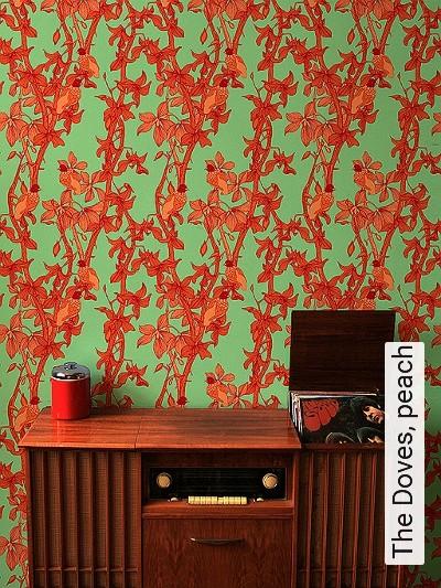 Bild: Tapeten - The Doves, peach