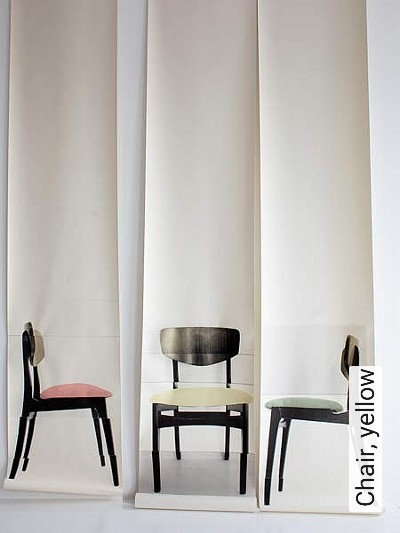 Bild: Tapeten - Chair, yellow