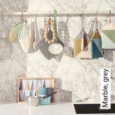 Bild: Tapeten - Marble, grey