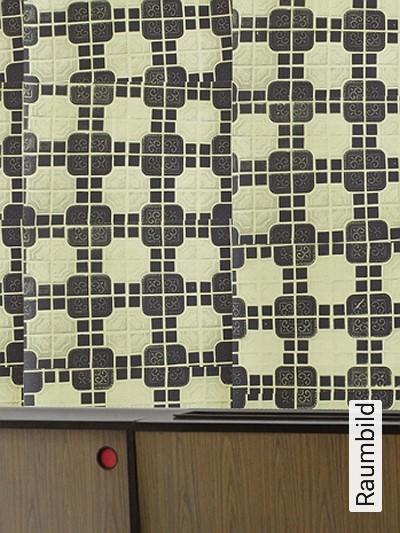 Bild: Tapeten - London Tile, olive green