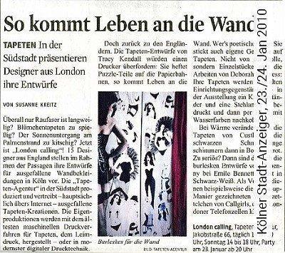 Bild: News - Kölner Stadt-Anzeiger, 23./24. Jan 2010