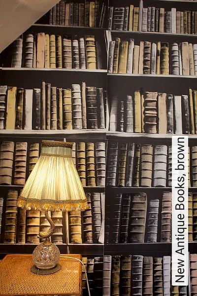 Bild: Tapeten - New Antique Books, brown
