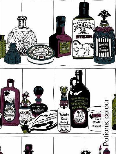Bild: Tapeten - Potions, colour