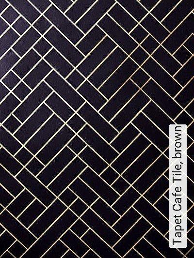 Bild: Tapeten - Tapet Cafe Tile, brown