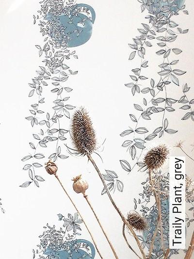 Bild: Tapeten - Traily Plant, grey