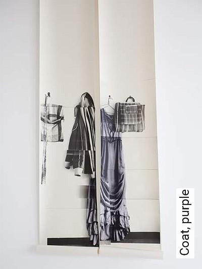 Bild: Tapeten - Coat, purple