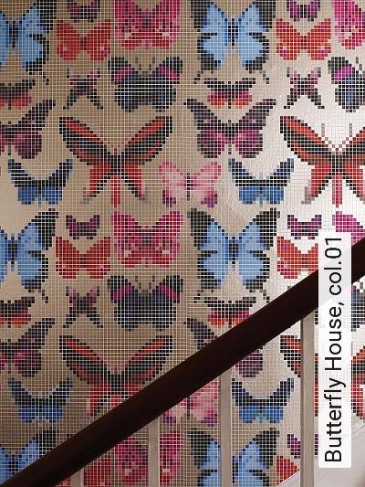 Bild: Tapeten - Butterfly House, col.01