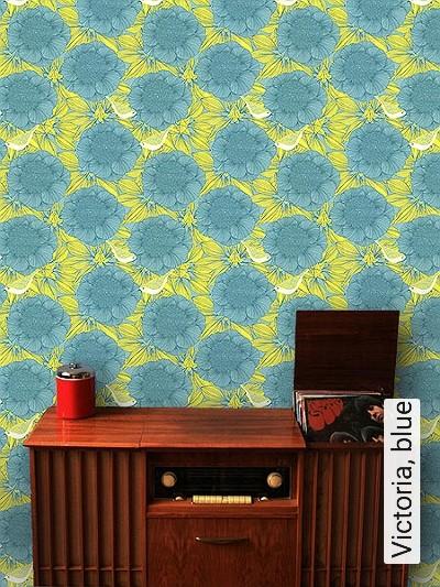 Bild: Tapeten - Victoria, blue