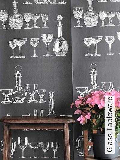 Bild: Tapeten - Glass Tableware