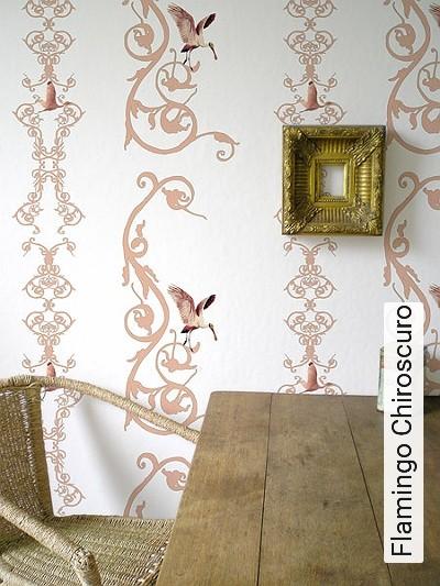 Bild: Tapeten - Flamingo Chiroscuro