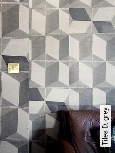 Bild: Tapeten - Tiles D, grey