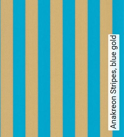 Bild: Tapeten - Anakreon Stripes, blue gold