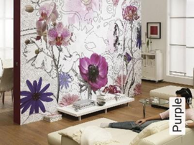 Bild: Tapeten - Purple