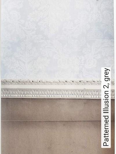 Bild: Tapeten - Patterned Illusion 2, grey