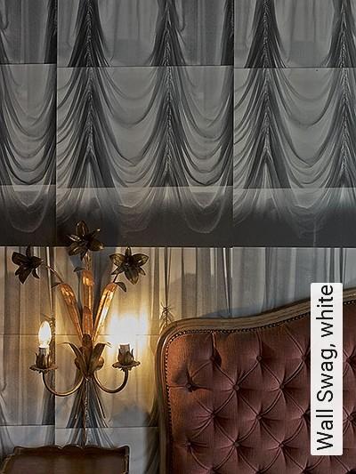 Bild: Tapeten - Wall Swag, white