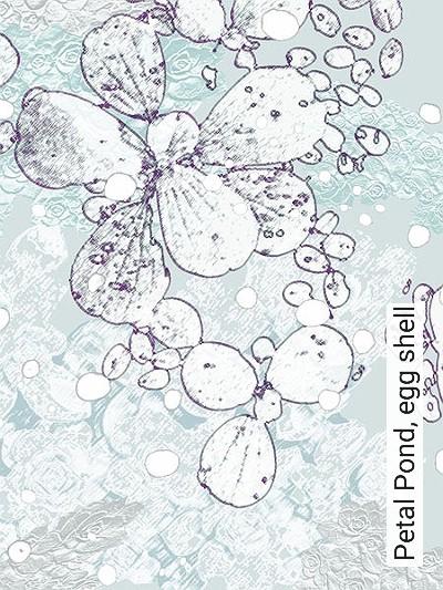 Bild: Tapeten - Petal Pond, egg shell