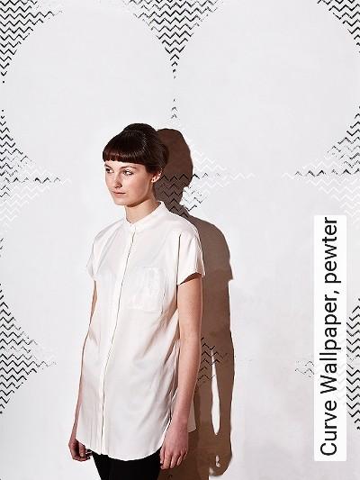 Bild: Tapeten - Curve Wallpaper, pewter