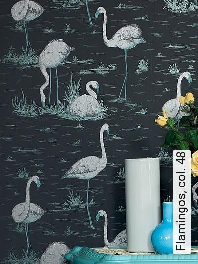 Bild: Tapeten - Flamingos, col. 48