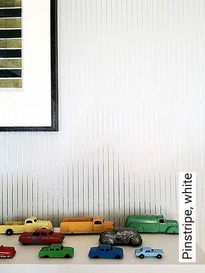 Bild: Tapeten - Pinstripe, white