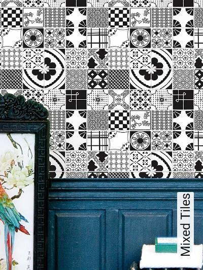 Bild: Tapeten - Mixed Tiles