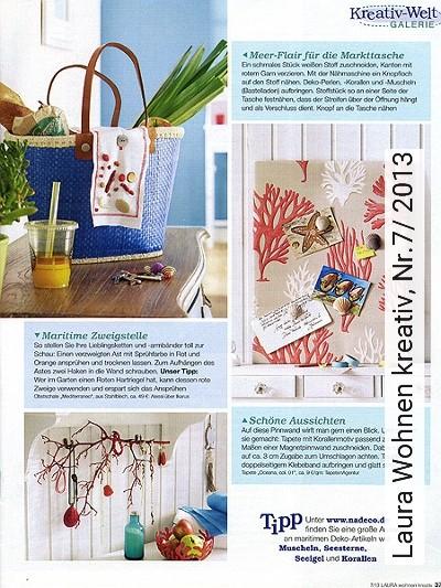 Bild: News - Laura Wohnen kreativ, Nr.7/ 2013