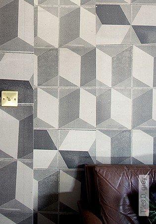Bild Tapete - Tiles D, grey