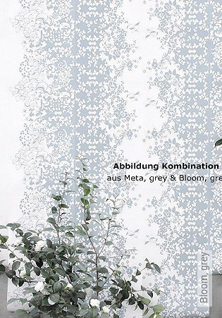 Bild Tapete - Bloom, grey