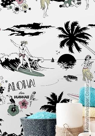 Bild Tapete - Aloha! Wallpaper, Colour