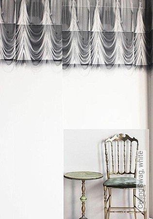 Bild Tapete - Ceiling Swag, white